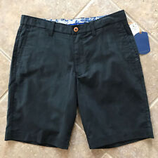 Tommy Bahama Offshore Shorts Mens 36 Black Flat Front Stretch NWT $98