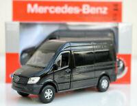 MERCEDES BENZ SPRINTER VAN 12 cm Opening Doors Pull Back & Go Metal Toy Car