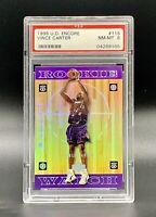 1998 U.D. Encore Vince Carter Raptors #118 Rookie PSA 8 Rare Benefits Charity❤️