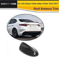 Auto Roof Antenna Trim For Alfa Romeo Giulia 4-Door 15-17 Carbon Fiber Refit