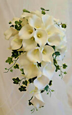 Artificial Brides Ivory Teardrop Real Touch Lily Bouquet