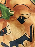 Jerry Garcia Mens Silk Necktie Halloween Pumpkins Orange Green Tie