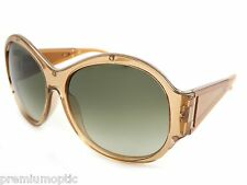 Givenchy ladies sunglasses SGV882M OD67 Transparent Honey / Green Gradient