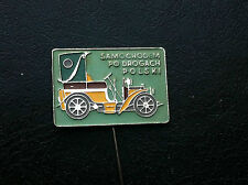OLD VINTAGE PIN BADGE - SAMOCHODEM PO DROGACH car club - Poland !