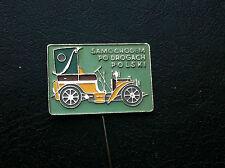 OLD VINTAGE PIN BADGE - SAMOCHODEM PO DROGACH car club - Poland !