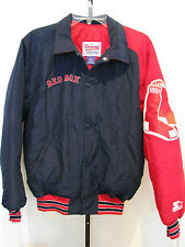BOSTON RED SOX Navy/ Red STARTER Winter Jacket puffer rare Size M