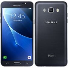 "NUOVO SAMSUNG GALAXY J7 (2016) Nero Senza Sim 5.5"" 16 GB Dual SIM Smartphone 4 G LTE"