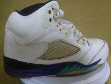 Air Jordan 5's V 'Grape' 2013 White Purple Teal Size 9136027-108