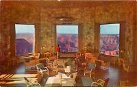 Old Chrome Postcard Arizona I041 Interior The Lounge at Grand Canyon Lodge