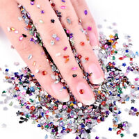 2000pcs 3D Mix Acrylic Nail Art Tips Nail Rhinestones Women DIY Manicure Tool _