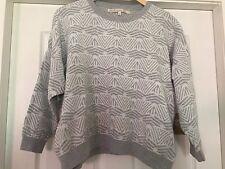Rachel Roy Architexture Grey Jumper Sweater Size Large BNWT