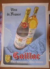 Superbe affiche vintage vins et mousseux de Gaillac (France) 50's 60's