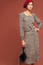 ANTHROPOLOGIE Sz 8 Eva Leopard Blouse by Kachel ADORABLE!!