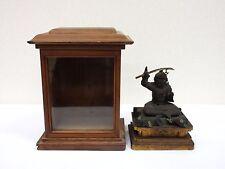 Japan, rare Myoken Bodhisattva, Buddhist, wooden, statue Buddha With glass case