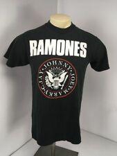 VTG '90 Ramones Johnny Joey Marky C. Jay Black Original Vintage T-Shirt Sz L