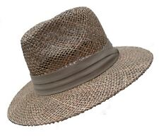 Men's Hat Natural Straw Seaweed Elegant Airy Sommernhut Holiday Sun Protection