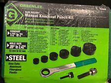 Greenlee Slug Buster Manual Knockout Punch Kit 7238Sb New