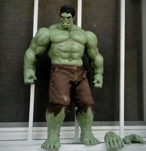 Hulk 1/6 Hot Toys KO (Custom made / repainted ) 42 Cm