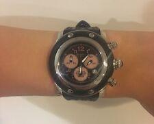 Glam Rock GK1127 Women's Miami Chronograph Black Silicone Black Dial SS Watch
