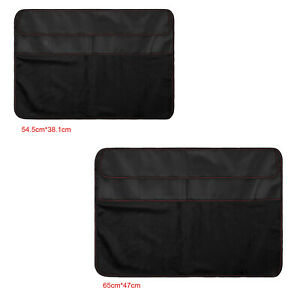 PC Dustproof Cover PU Leather Dust Cover w/ 3PCS Pockets for iMac Screen