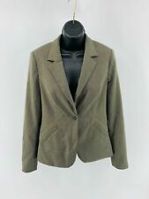 Banana Republic Women's Blazer Jacket Stretch One-Button Lined Brown Size 6