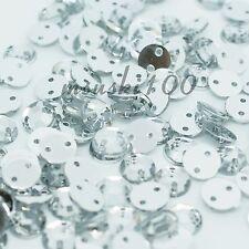 1000 Sew On Rhinestone Beads Diamond Decoration Gems Flat Back Sewing Trimmings