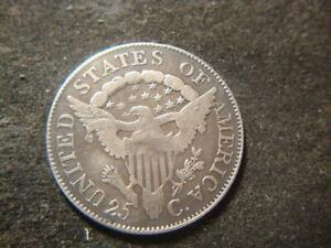 1806 F VF Draped Bust Quarter Very Bold Look AZX