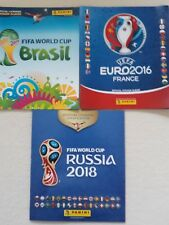 Panini World Cup Russia 2018,Brazil 2014 .70 stickers ,Euro 2016 2 empty Albums