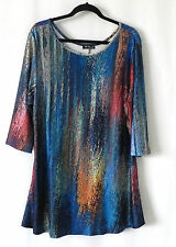Lily by Firmiana Tunic Multi-Color 3/4 Sleeve Jersey Size 2XL