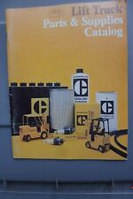 CATERPILLAR LIFT TRUCK PARTS AND SUPPLIES CATALOG  1978