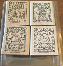 Stampin Up! 1998 GIFTED GREETINGS Stamp Set - NEW