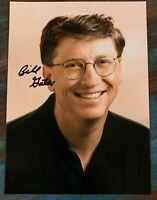 BILL GATES Authentic Hand Signed Photo 5x7 w/ Microsoft Transmittal Envelope EXC