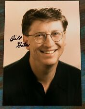 BILL GATES Authentic Hand Signed Photo 5x7 w/ Microsoft Transmittal Envelope EXC