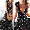 Women Summer Boho Dress Sleeveless Evening Party Beach Maxi Long Sundress I