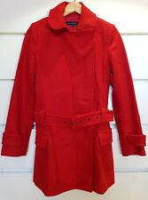 FRENCH CONNECTION Ladies Red Wool Coat Jacket Sz 8 EUR 36 US4
