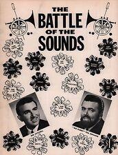 SUPREMES / SONNY & CHER 1965 BATTLE OF THE SOUNDS CONCERT PROGRAM BOOK / EX 2 NM