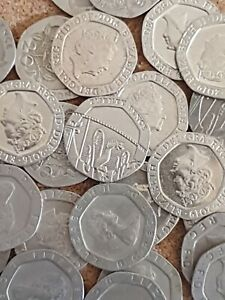 UK Decimal British Twenty Pence 20P Coins, Circulated Condition, 1982 - 2021