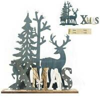 Supplies Party Decor Home Garden Elk Xmas Ornament Wooden Crafts Christmas Tree