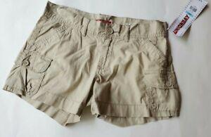 "Juniors Union Bay Size 5 Tan Khaki Lightweight Cargo Shorts Boy Fit 30"" Waist"