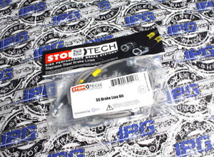Stoptech Front Steel Braided Brake Lines Fits 2000-2003 Honda S2000 AP1