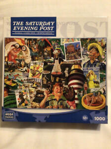 SUMMERTIME Saturday Evening Post Rockwell 1000 pc Puzzle Mega 2010 Complete