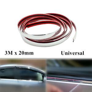 3M Universal Car Chrome DIY Moulding Trim Strip For Grille Window Door Bumper