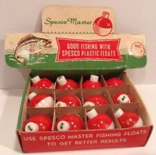 VINTAGE FISHING FLOATS BOBBERS STORE COUNTER DISPLAY NEW OLD STOCK