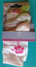 LOT 3 PAIRES DE CHAUSSETTES 18/20 bébé fille blanc rose fleurs TWINDAY NEUF