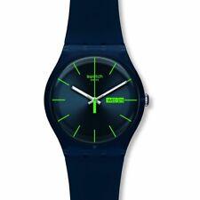 Orologio Swatch BLUE REBEL SUON700 GOMMA watch uomo SILICONE BLU INDICI VERDI