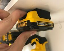 5x BATTERY MOUNTS - DeWalt XR 12v / 10.8v Storage Shelf Rack Stand Slots Holder