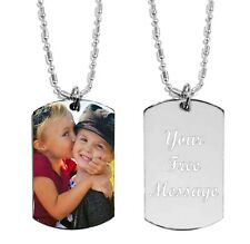 Personalized Custom  Color Photo ID/Dog Tag Pendant & Necklace/Chain