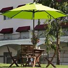 250g Patio 9 Ft Outdoor Patio Table Umbrella with Auto Tilt and Crank Lime Green