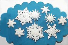 Sugar Snowflakes Christmas Cake Cupcake Toppers Edible Wedding Birthday