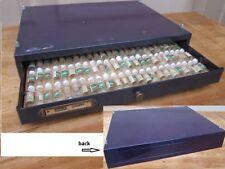 VTG H.R METAL CASE,W/122 Sm BOTTLE, 300 Pcs WATCH? TINY PARTS:CROWN,SPRINGS